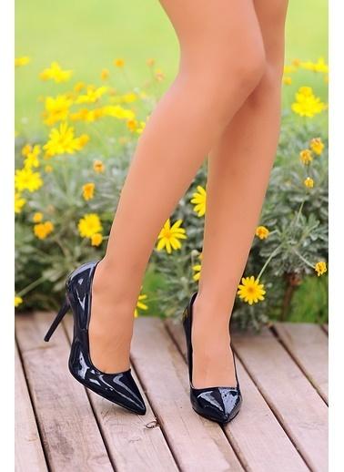 Pembe Potin A1770-17 Kadın Klasik Topuk Ayakkabı A1770-17 Lacivert